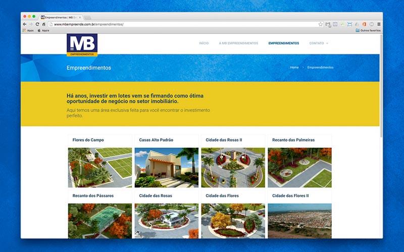 MB Empreendimentos - Presença Digital