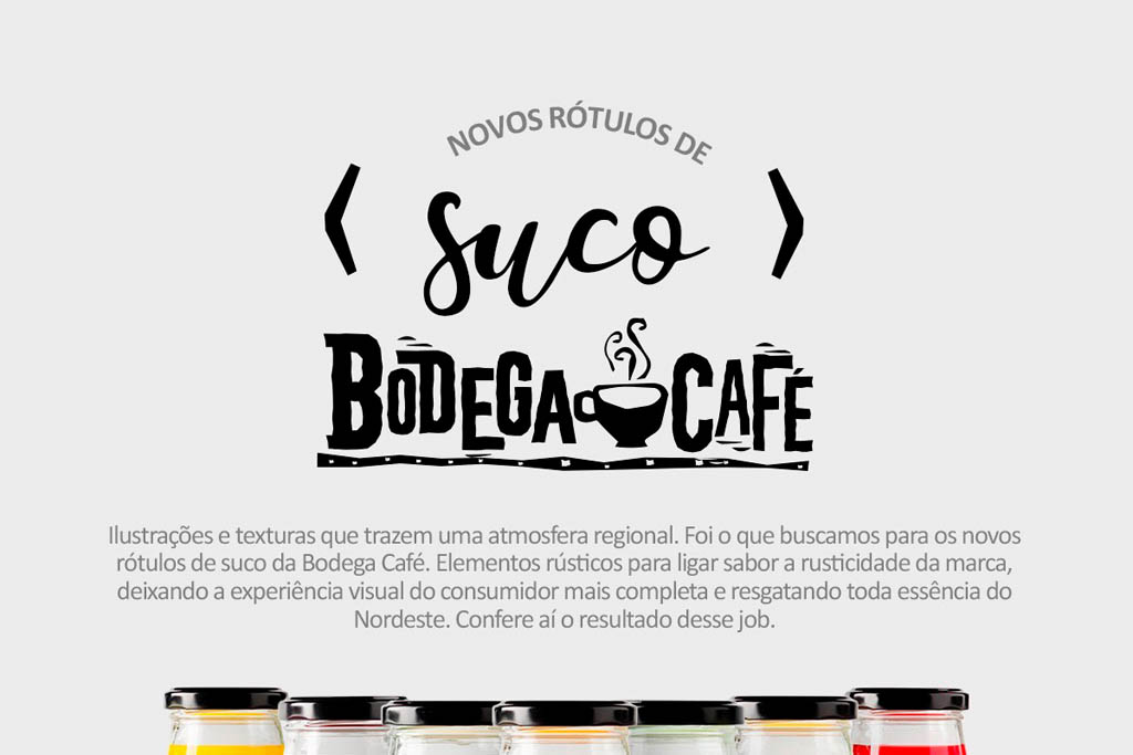 Bodega Café - Rótulos Sucos
