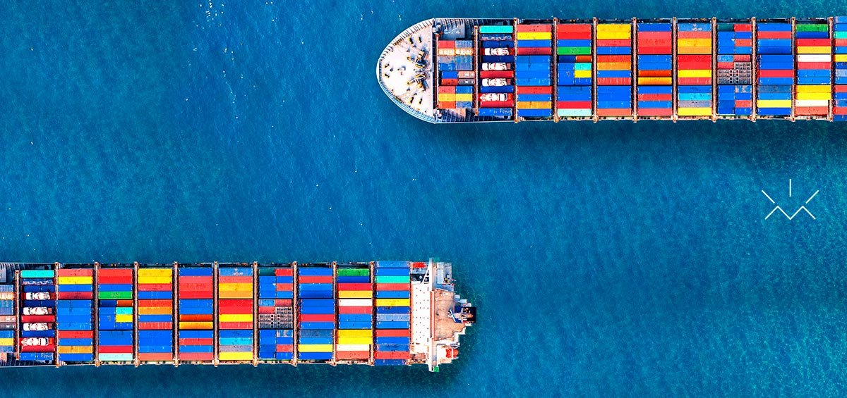 Blocos de navios desencaixados, remetendo ao conceito de site responsivo